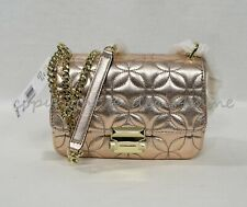 Michael Kors 30H8TSLL1K Small Sloan Quilted Leather Chain Link Shoulder Bag