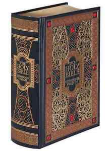 THE HOLY BIBLE: King James Version KJV illustrated Gustave Dore ~LEATHER BOUND~