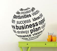 Business 3D Ball Wall Decal Motivation Office Vinyl Sticker Home Mural Art 232xx
