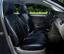 2 PU Leather Car Seat Covers Cushion Compatible to Lexus 1209A Black