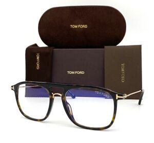 Tom Ford FT5588-B 052 Dark Havana/ Blue Block 54mm Eyeglasses TF5588-B