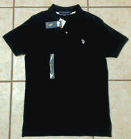 US Polo Assn Short Sleeve Black White Polo Shirt Mens Size S New with Tags