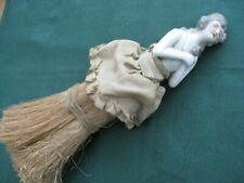 Antique Art Deco Porcelain Half Lady Doll Vanity Brush