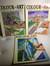 Colour And Art 3 Book Lot: Mindful Colouring In Books 3XPB Stunning Images