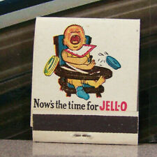 Vintage Matchbook G6 Circa 1940 Crying Baby Time For Jello Dessert Humorous Kid