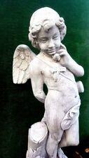 STATUA ANGELO EROS H110 ARREDO GIARDINO SCULTURE ESTERNO GIARDINO MARMO CEMENTO