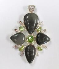 Sterling Silver Bloodstone Large Pendant ~ 40.0 grams ~ 15-A8711