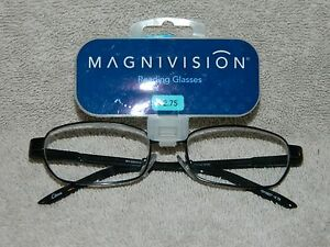 +Magnivision  Style - Pierre  Brown  Reading Glasses +2.75  NEW