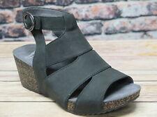 Dansko Sera Milled Black Nubuck Sandal  *3421-360200