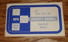 Original 1976 Buick Century & Regal Owners Operators Manual 76