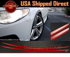 2 Pieces Flexible Slim Fender Flare Extension Red Protector Trim For Ford