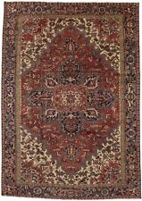 Decorative Antique Vintage Heriz Handmade Area Rug Oriental Carpet 8X11