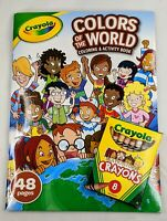 Crayola Colors Of The World Coloring Activity Book w Multicultural Crayons