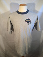 Harley Davidson Men's Size: XL, Blue Striped Graphic Tee, 95th Anniversary, 1998