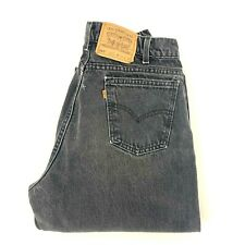Vintage Levis Orange Tab 560 Faded Black Denim Jeans Loose Fit 33x34 Tapered Leg