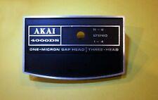 AKAI REEL to REEL 4000DS PLAY/RECORD HEAD COVER P/N SC481026 – GENUINE AKAI PART