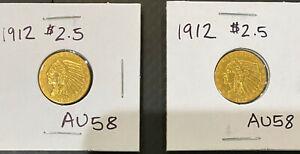 1912 $2.5 Gold Indian - Beautiful