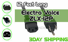 New 12Ft Electro Voice ZLX-12P Replacement AC Power Cord Cable