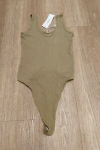 Urban Outfitters Green Ribbed Bodysuit BNWT Size Med-Large