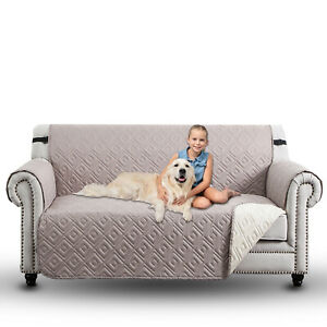 Waterproof Sofa Slip Covers Reversible Couch Cover Quilted Throw Pet Protector