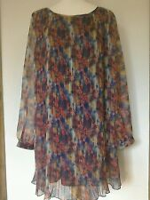 Sodamix Floral Pleated Dress,  approx Size 14