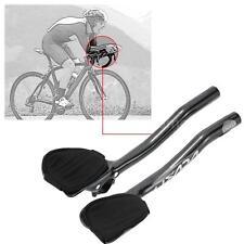 Lixada Carbon Fiber Road Bicycle Aero Bar Rest Handlebar Aerobar 31.8mm K1S6