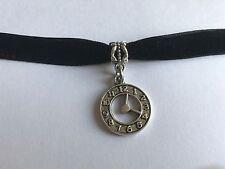 Reloj De Reloj encanto de Terciopelo Negro Ajustable Gargantilla Collar 10 mm Steampunk