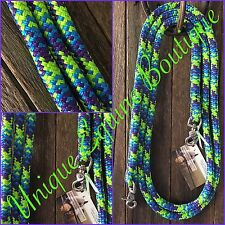 6ft Rope Reins VARIOUS COLOURS Horse Pony Horsemanship Tack BNWT