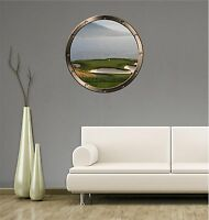 """24"""" Porthole Sea Window GOLF COURSE OCEAN #1 ROUND Wall Sticker Decal Graphic"""