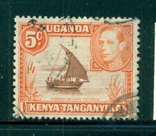 KENYA UGANDA TANGANYIKA 68 SG133 Used 1949 5c KGVI Dhow Perf 13X11&1/2 Cat$8