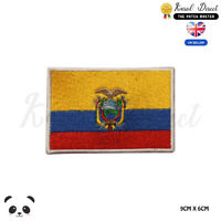 ECUADOR National Flag Embroidered Iron On Sew On Patch Badge For Clothes etc