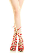 Womens Strappy Lace Up Cage Gladiator Pump Sandal Stiletto High Heel Peep Toe US
