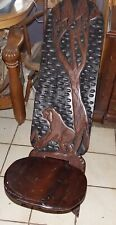 Hand Carved Hand Painted African Birthing Chair / Accent Chair