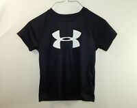 Under Armour Heat Gear Kids Black Jersey Athletic Clothing T Shirt BOYS SMALL 4