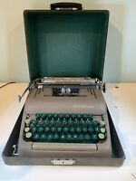 Smith Corona Silent Manual Portable Typewriter With Case Works A619