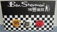BEN SHERMAN 2005 set of 3 promo MOD SKA badges/buttons/card New Old Stock