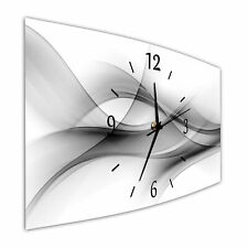 BM Wanduhr 44 cm x 22 cm  leises Uhrwerk Funkwanduhr Digital Art 9541-1 SZ