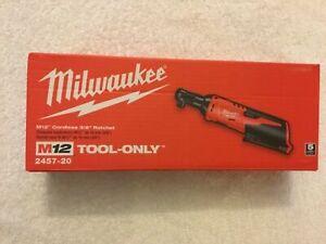 "NEW Milwaukee 2457-20 M12 12V 3/8"" Cordless Ratchet Tool Only"