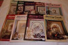 9 Stoney Creek Cross Stitch Collection Magazine Back Issues Patterns 1989-1991