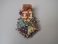 GOOD QUALITY UNUSUAL BEAD WORK BEADED BEADS COIN PURSE POSSIBLY NATIVE AMERICAN?