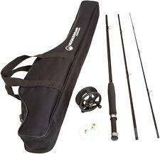 New ListingFly Fishing Starter Set- 8' Fiberglass Rod, Aluminum Reel, Travel Bag, 12.