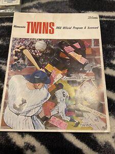 1968 MINNESOTA TWINS VS OAKLAND As PROGRAM REGGIE JACKSON CAREW