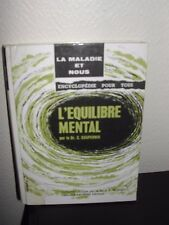 """""""DOCTEUR C. POUTERNIK"""" - L'EQUILIBRE MENTAL -ENCYCLOPEDIE POUR TOUS -1959"""