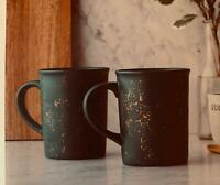NOBLE BLUE SPECKLED STONEWARE MUG SET OF 2 HEARTH & HAND W/ MAGNOLIA NEW IN BOX