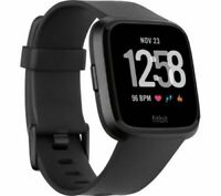 FITBIT Versa Smart Watch - Black Aluminium and Peach and Grey  (no seal on box)