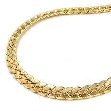 Ovale aus echtem Edelmetall-Halsketten ohne Steine