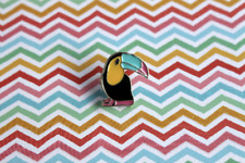 pin, tropical bird jewellery Enamel toucan pin, bird enamel