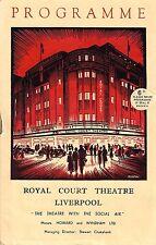 "Cole Porter ""KISS ME KATE"" Christopher Hewett 1952 Liverpool, England Playbill"