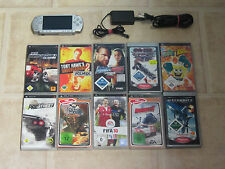 Sony PSP Silber mit 3 Gratis Spiele + Zubehörpaket (3004)