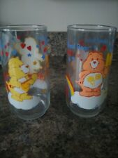 Vintage Care Bares Drinking Glasses Lot Of 2 Sunshine And Friend Bear